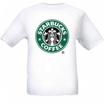 New Starbucks gift black white T-Shirt gift Sz S m l Xl 2Xl