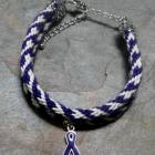 Find A Cure For Alzheimers kumihimo bracelet