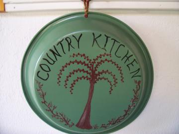 Country Kitchen Primitive Pie Pan