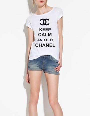 Keep Calm and Buy Chanel White Ispired Tee T-Shirt (all sizes available)