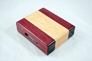 Playing Card Case - Purpleheart & Birdseye Maple