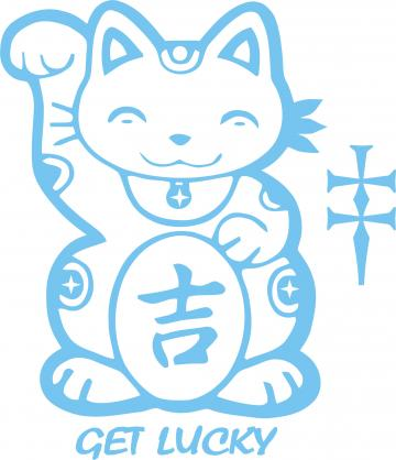 Get lucky cat Decal