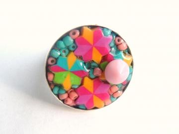Erasers Colorful Kaleidoscope recycled ring
