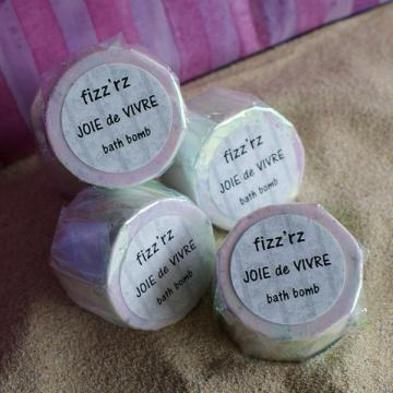JOIE de VIVRE FIZZRZ - fizzing bath bombs 6 PACK mix or match by Artisoap
