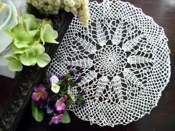 Crochet Doily in White - Openworked and Lacy 7885
