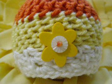 Newborn Baby Girl Candy Corn Beanie Halloween Photo Prop