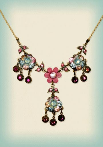 Orly Zeelon The Trio Of Flowers Necklace