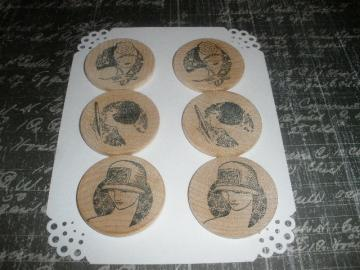 Vintage Wood Ladies Embellishments
