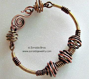 Coiled Wire Bracelet