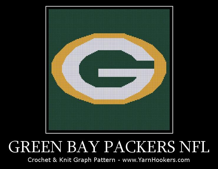 Crochet Pattern Green Bay Packer Afghan : Click to Enlarge Image