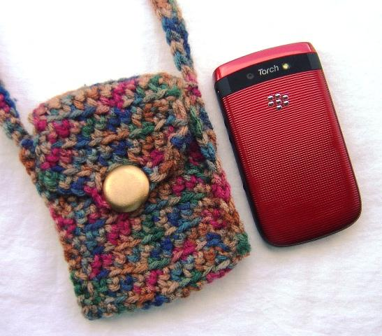 Crochet Cell Phone Purse : Indian Summer Crochet Cell Phone Bag