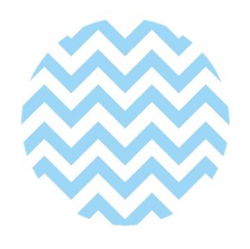 Chevron Print {Light Blue & White} Edible Image Cupcake Toppers