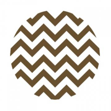 Chevron Print {Brown &amp; White} Edible Image Cupcake Toppers