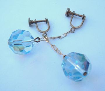 Blue Danglers Vintage Earrings
