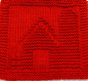 Knitting Cloth Pattern   - BARN -  PDF