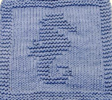 Knitting Cloth Pattern   - SEAHORSE -  PDF