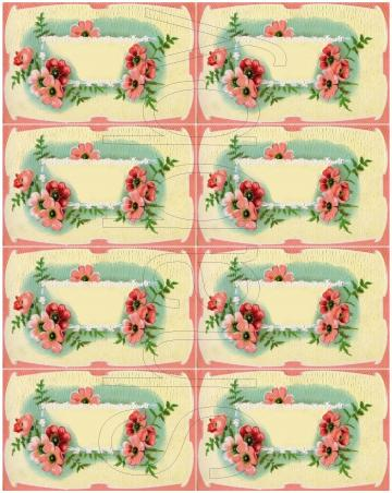 Shabby Vintage Pink flowers journaling spot digital collage sheets for scrapbook and cards  DC157