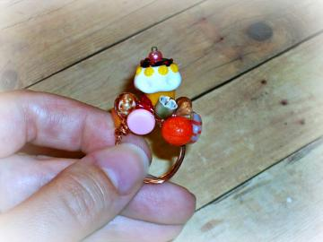 Sundae - Ring - Beloved Collection - Edibles Series - OOAK - ANY SIZE