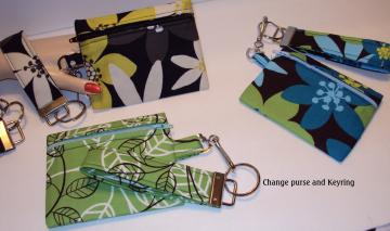 Zippered Change Purse with Keyfob