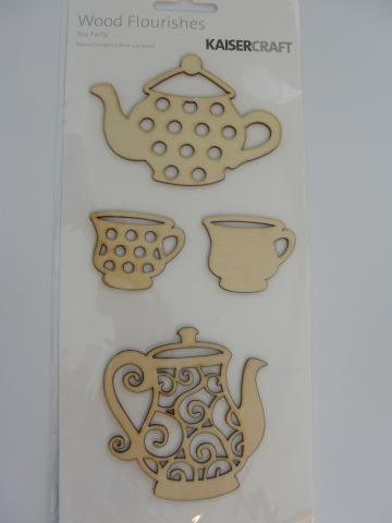 Tea Party wood flourishes by Kaisercraft