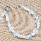 Sparkling Clear Crystal Handcrafted Everyday Bracelet