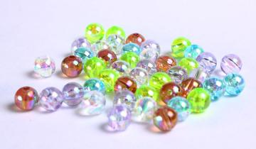 50 Mixed color acrylic resin beads AB 6mm 50pcs (732)