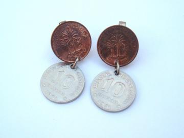 Old Coins Vintage clip earrings