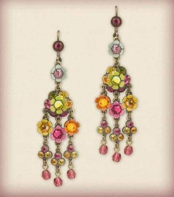 Orly Zeelon The Floral Fountain Earrings
