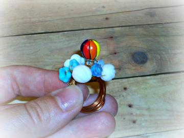 Up in the Clouds - Ring - Beloved Collection - Little Friends Series - OOAK - ANY SIZE