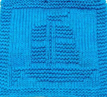 Knitting Cloth Pattern   - CLIPPER SHIP -  PDF