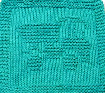 Knitting Cloth Pattern   - DUMP TRUCK # 2 -  PDF