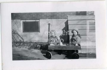 The Old Wood Wagon - Antique Photograph