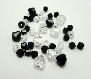 Swarovski Crystal Beads  Black Ice