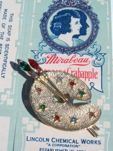 Painters' vintage brooch costume jewelry