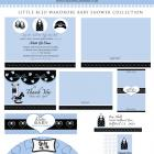 Little Bleu Wardrobe Shower Theme- Digital File