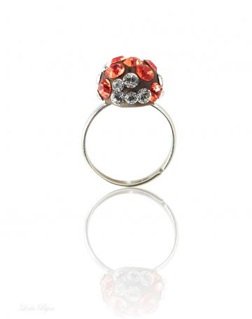Autumnal Lights Ring - Swarovski Crystal Silver Pl