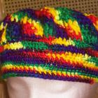 Multi Colored Beret and Scarf