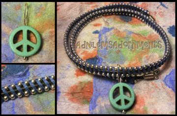 Give Peace a Chance Choker  ~Blue/Silver~
