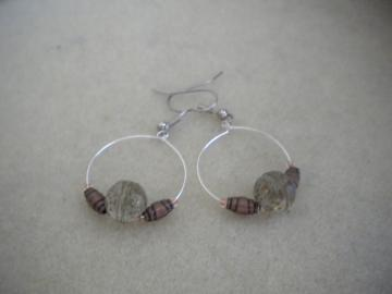 Floating Beads Hoops