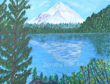 Mount Hood in the Oregon Cascades Art Print