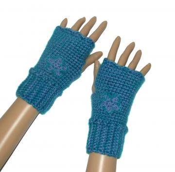 Crochet Shell Finger-less Gloves | - Crochet Free patterns