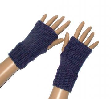Fingerless Mitten Top Gloves Crochet Pattern