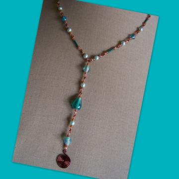 Seafoam Harvest Spiral Necklace