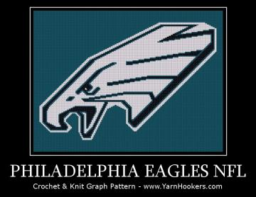 Philadelphia Eagles - NFL -  Afghan Crochet Graph Pattern Chart