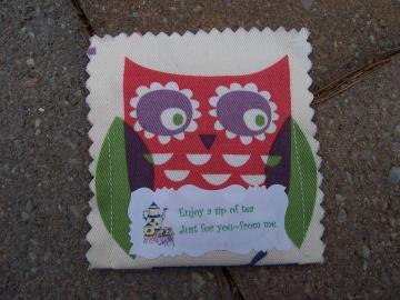 Owl Tea Bag Pouch