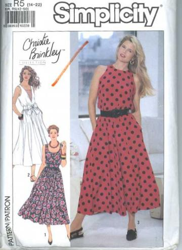 Simplicity 9695 Sewing Pattern Misses Summer Dress w/Neckline/Bodice Variations sizes 14 to 22
