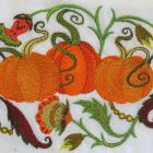 JACOBEAN PUMPKIN TRIO flour sack towel