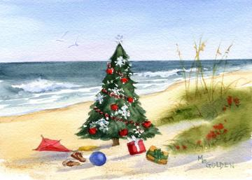 Christmas at the Beach Christmas Card