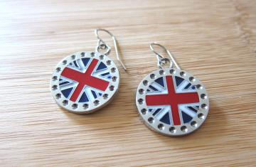 UK British Flag Earrings