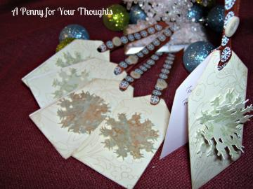 Three D Stand Up Snowflake Gift Tag Set